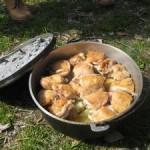鶏もものぶつ切りの ローストチキン